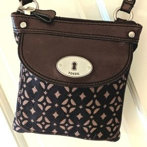 Fossil Canvas/Leather Crossbody